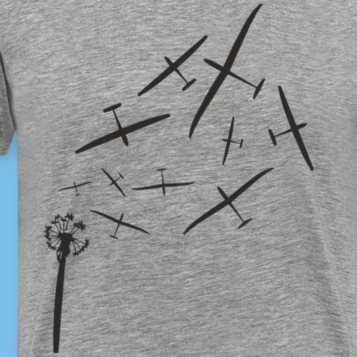 pusteblume segelflugzeug gleiten T-Shirt Geschenk - Männer Premium T-Shirt
