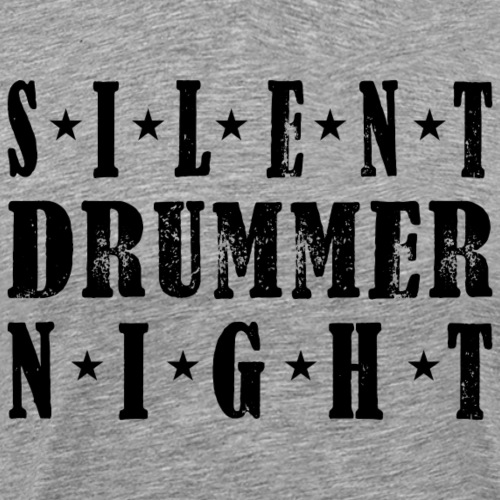silent drummer night Christmas - Männer Premium T-Shirt