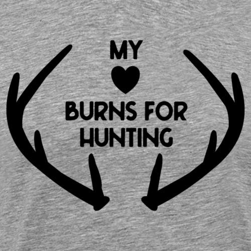 my heart burns for hunting Jagd - Männer Premium T-Shirt