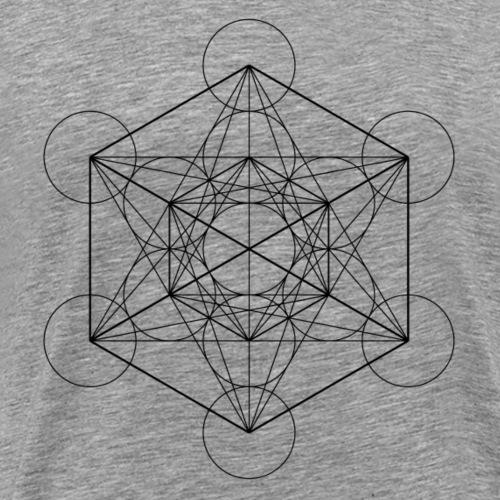 Metatrones Cube - Herre premium T-shirt