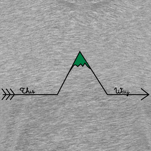 Wandern Pfeil This Way Retro Design Wanderlust - Männer Premium T-Shirt