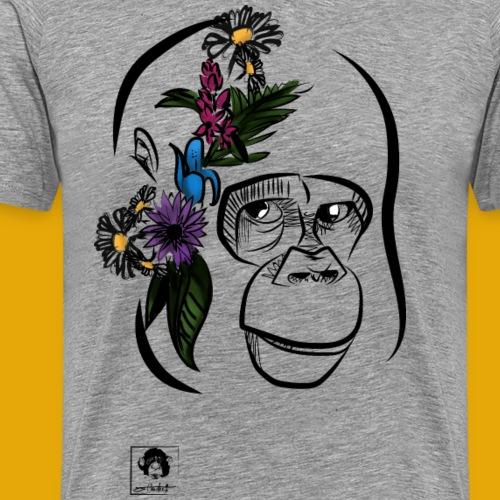 Gorille printanier - T-shirt Premium Homme