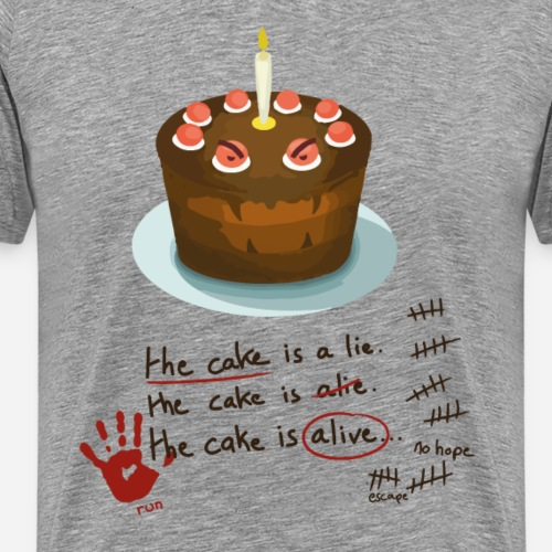 The cake is alive - T-shirt Premium Homme