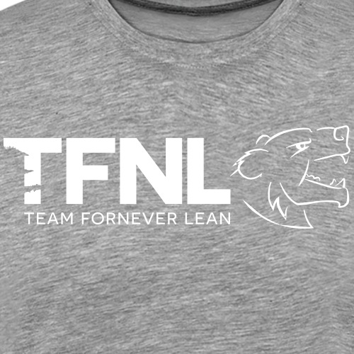 TFNL White/Heather Blue Logo Tee - Men's Premium T-Shirt