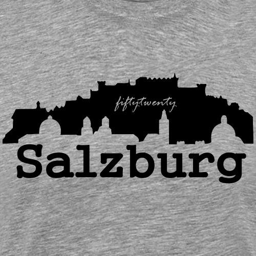Skyline of Salzburg/Austria - Männer Premium T-Shirt