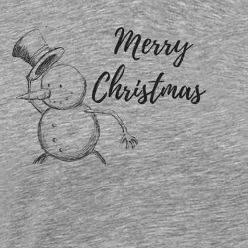 Merry Christmas Schneemann - Männer Premium T-Shirt