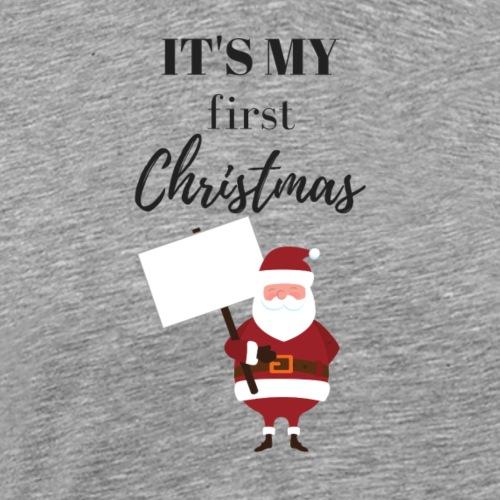 It`s my first Christmas Weihnachtsmann - Männer Premium T-Shirt