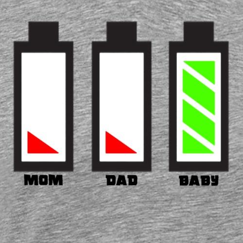 Mom Dad Baby Energy - Männer Premium T-Shirt