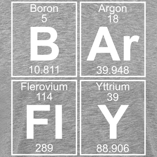 B-Ar-Fl-Y (barfly) - Full - Men's Premium T-Shirt