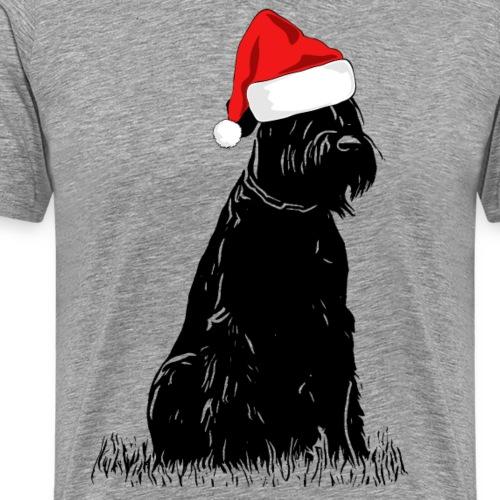 Riesenschnauzer Weihnachten Schnauzer Hund - Männer Premium T-Shirt