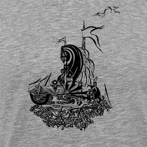 Bateau fou noir et blanc - T-shirt Premium Homme
