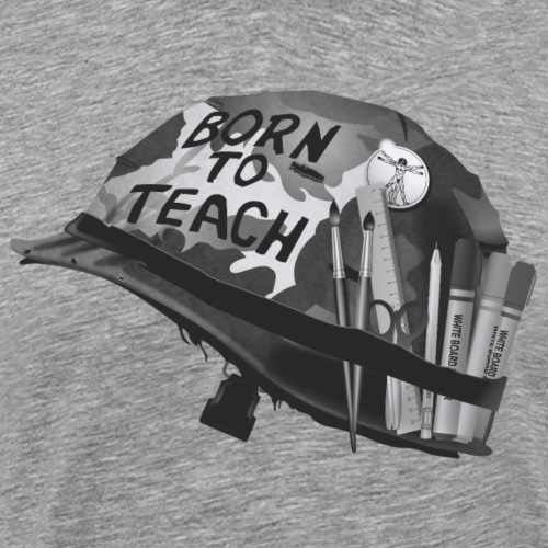 Born to teach Arts N&B - T-shirt Premium Homme