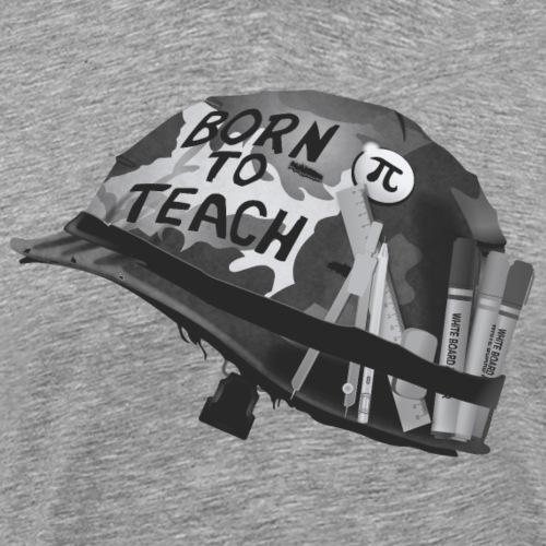 Born to teach maths N&B - T-shirt Premium Homme