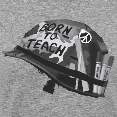 Born to teach N&B - T-shirt Premium Homme