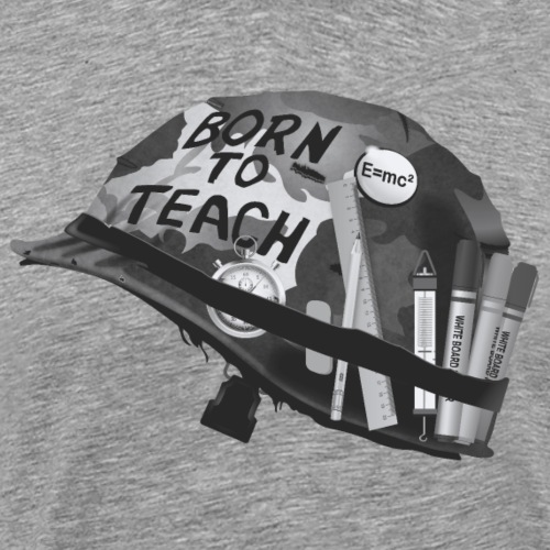 Born to teach science N&B - T-shirt Premium Homme