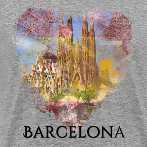 My heART beats for Barcelona - Männer Premium T-Shirt