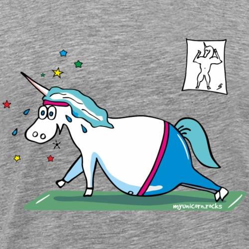 Fluffy fat unicorn - Men's Premium T-Shirt
