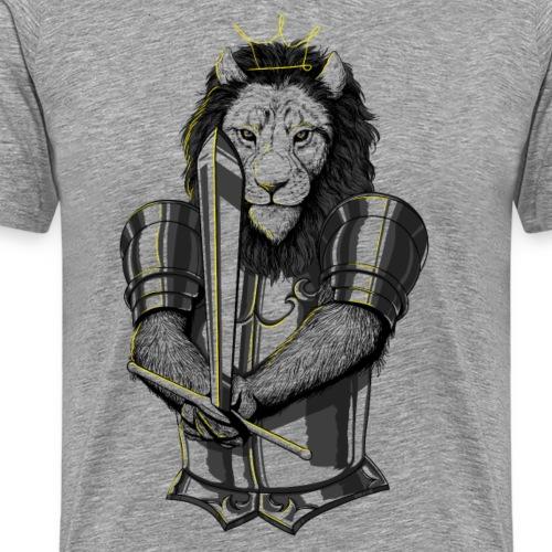 Löwe Duell - Männer Premium T-Shirt