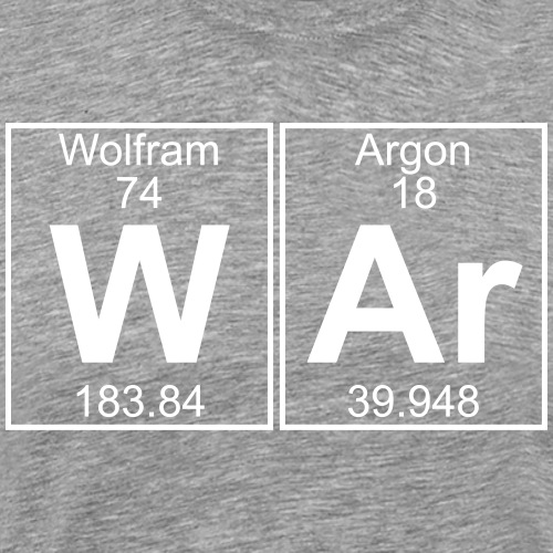 W-Ar - (war) - Men's Premium T-Shirt