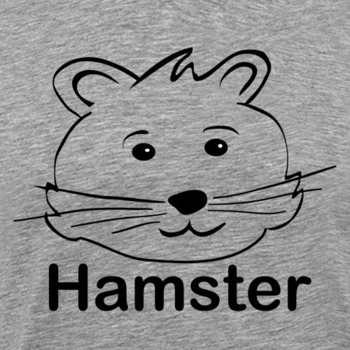 Hamsterkopf - für Hamsterfreunde - Männer Premium T-Shirt