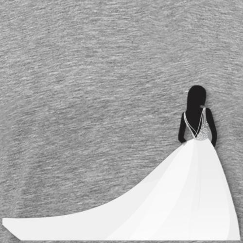 Braut mit Kleid