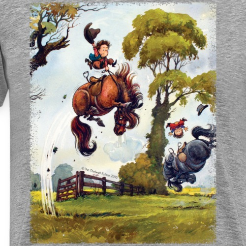 Thelwell Cartoon Pony Rodeo - Männer Premium T-Shirt