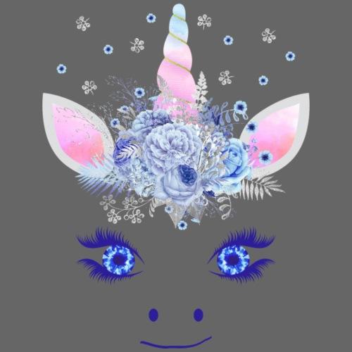 Cute Unicorn Flowers Magic Eyes 3 - Männer Premium T-Shirt