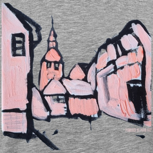 Gamle københavn i lyserød - Herre premium T-shirt