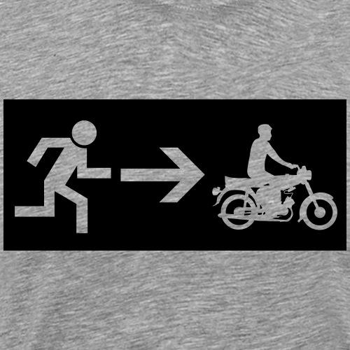 Notausgang Simson - Männer Premium T-Shirt