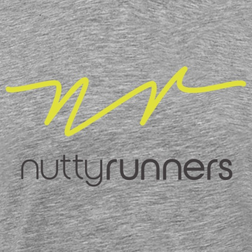 Nutty Runners - Lime green and white logo - Men's Premium T-Shirt