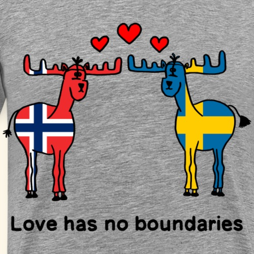 Love has no boundaries Scandinavia Norwegen Sweden - Männer Premium T-Shirt