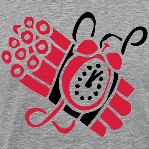 Zeitbombe Timebomb Dynamite Explosion Terror TNT - Männer Premium T-Shirt