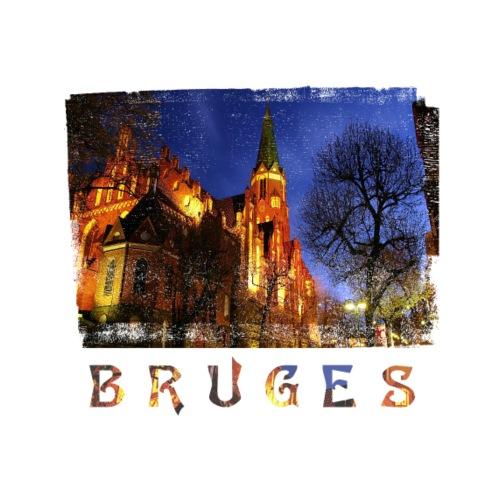 Bruges   By Night - Mannen Premium T-shirt