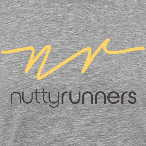 Nutty Runners - Sunshine yellow and charcoal Logo - Men's Premium T-Shirt