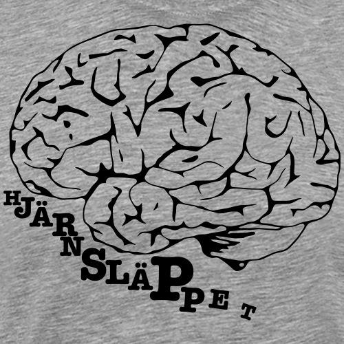 Hjärnsläppets logo - Premium-T-shirt herr