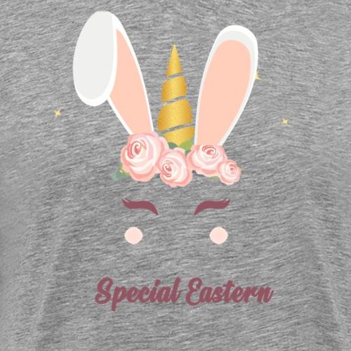 Frohe Ostern Geschenk Geschenkidee Einhorn - Männer Premium T-Shirt