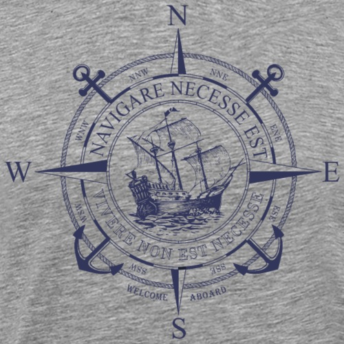 NAVIGARE BLUE - Men's Premium T-Shirt