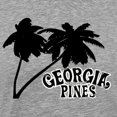 Georgia Pines Band Shirt Logo Palmen frei Outline - Männer Premium T-Shirt