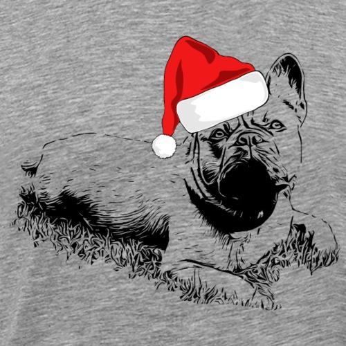 Weihnachten Französische Bulldogge Frenchie Hund - Männer Premium T-Shirt