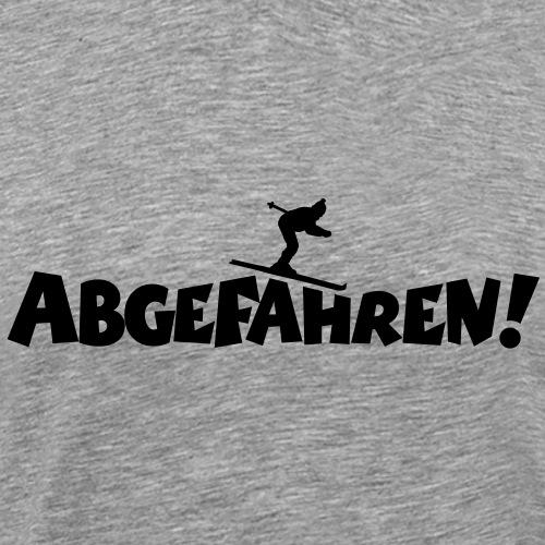 Abgefahren Skifahren Ski Skifahrer - Männer Premium T-Shirt