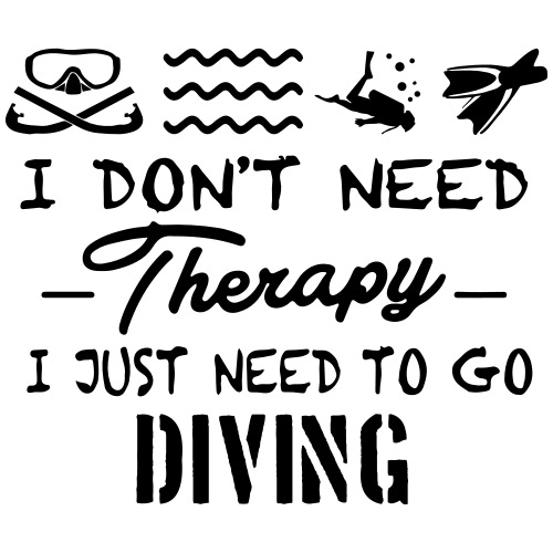 No Therapy Just Diving - Männer Premium T-Shirt