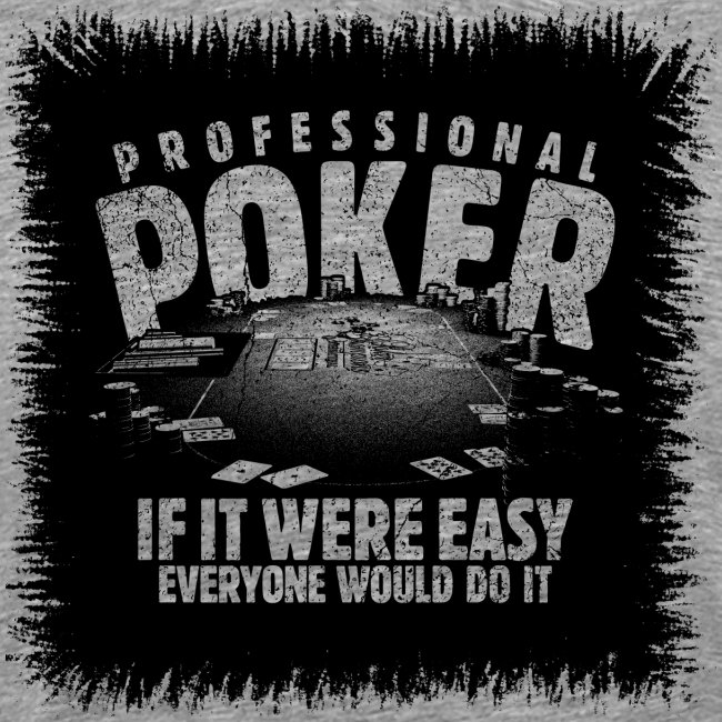 Professionel poker sort (oldstyle)