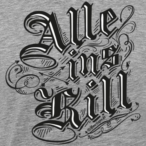 Alle ins Kill BLB (Bogenschießen by BOWTIQUE) - Männer Premium T-Shirt