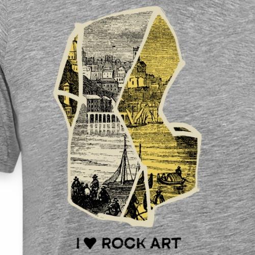 I LOVE ROCK ART No 2 colour - Mannen Premium T-shirt