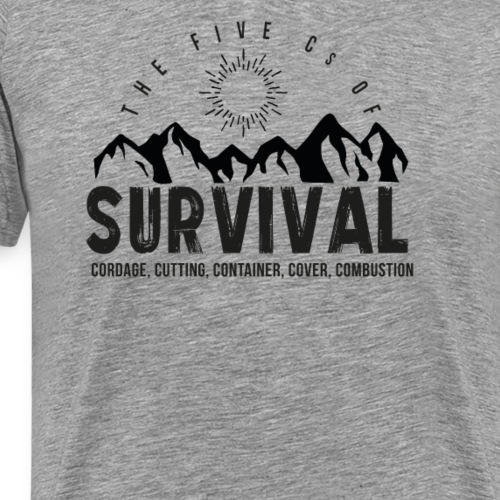 5Cs of Survival Mountain - Premium-T-shirt herr