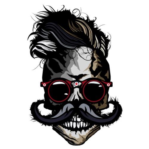 tete de mort hipster moustachu crane skull moustac - T-shirt Premium Homme