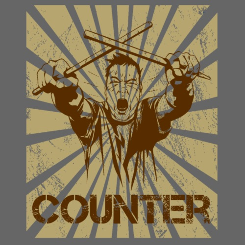 Drummer Counter - Männer Premium T-Shirt