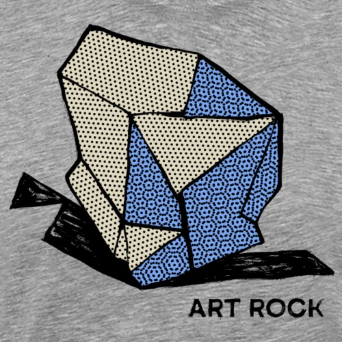 ART ROCK No 1 colour - Mannen Premium T-shirt