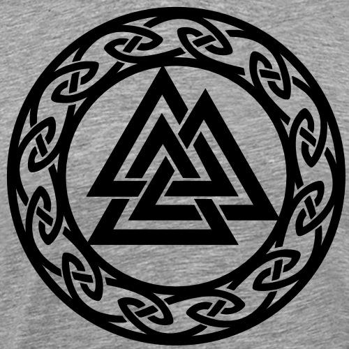 Valknut, Wotans Knoten, Keltischer Endlos Knoten - Männer Premium T-Shirt