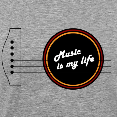 music is my life - Maglietta Premium da uomo